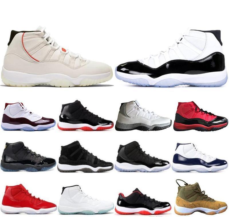 b8fb8dde13 Compre 2019 Novo Nike Air Jordan Retro 11 11 S Mens Tênis De Basquete  Concord 45 Atmosfera Cinza Platinum Matiz Espaço Jam Ginásio Vermelho  Designer Homens ...