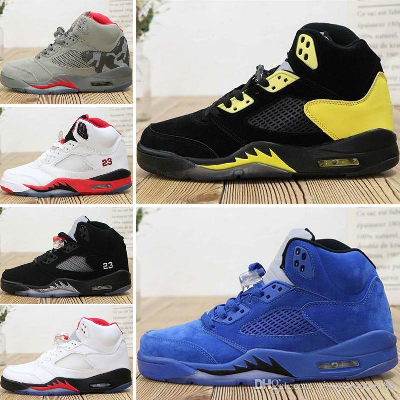 more photos 8d78e ffe55 Nike Air Jordan 5 2019 Michigan Fab 5 Inspire Satin Bred Fresh 5 wings 5s  PSG Negro hombre Zapatillas de baloncesto PARIS Laney OG White Grape mens  ...