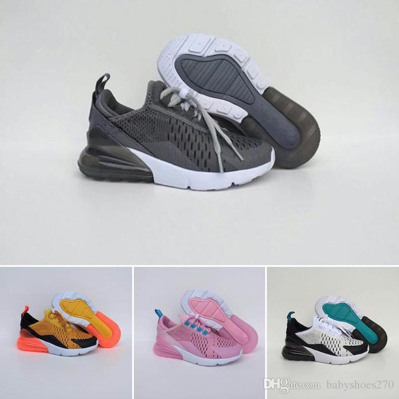Nike air max 270 Zapatillas de deporte Unisex Kids casual shoes Peach Color 2019 lindo fresco moda malla bebé niñas niños zapatos recién llegado