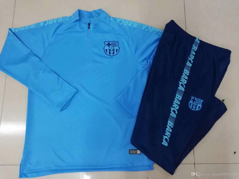 competitive price 92b83 dc02e 19/20 FC Barcelona sportswear SUAREZ Jersey barca printed cardigan Messi  shirt sweatshirt casual sportswear zipper slim training suit