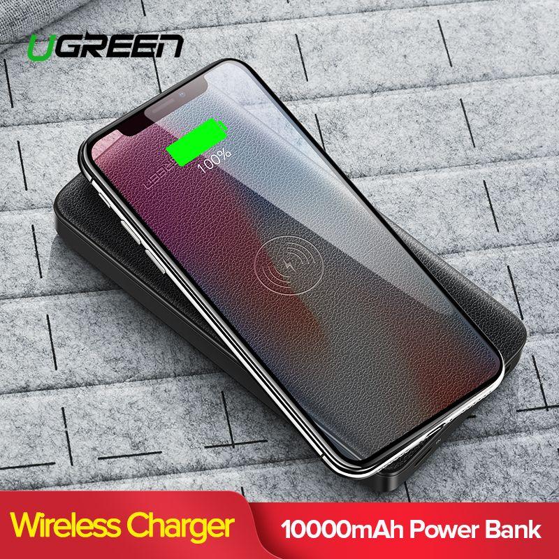 f2fa9195f63 Moviles Libres Ugreen 10000mAh Qi Cargador Inalámbrico Banco De Energía Para  IPhone X XS Cargador De Batería Externo Rápido Powerbank Inalámbrico Para  ...
