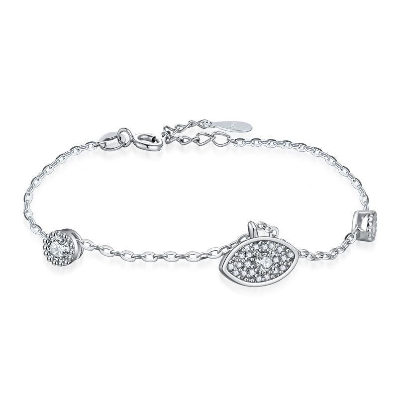 04d4f032d826f Charms Women s 925 sterling silver Bracelet Character demon eyes pendant  Jewelry Silver Chain Link Bracelets for Women Girl Gift