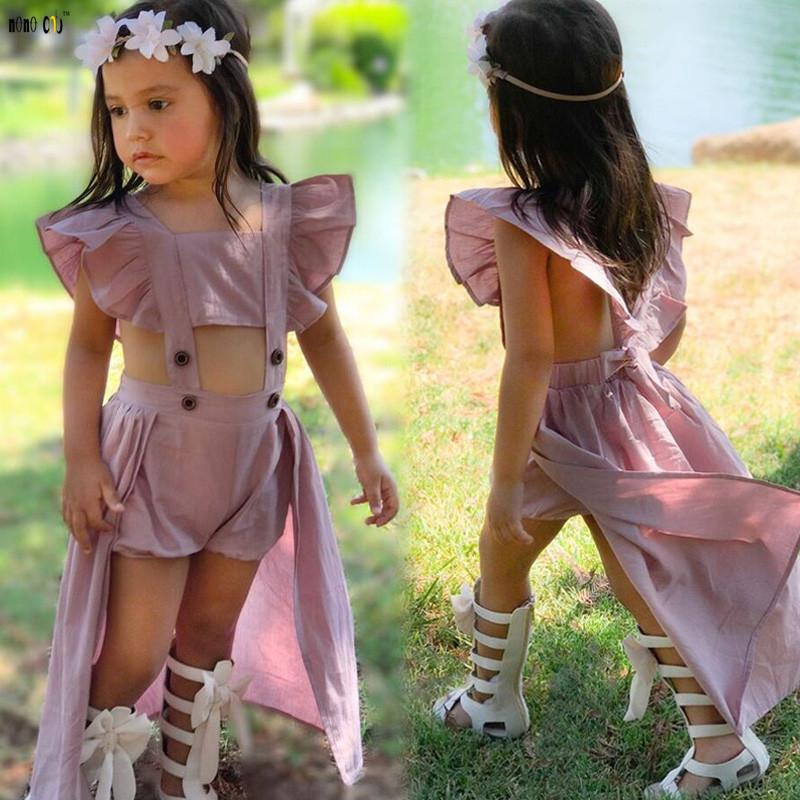 Wedding Dress Child Girls Clothes Sleeveless Spliced Hollow Out Holiday Beach Sundress Kids Vestido For Girls 3 4 5 6 7 8 Years J190505