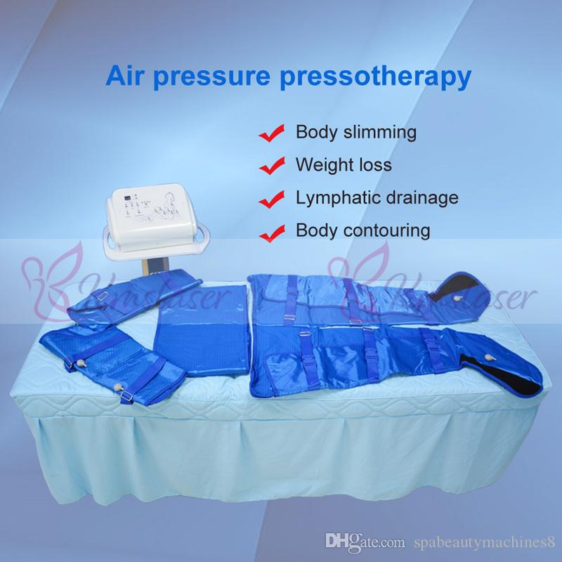 16pcs air bags blue color vest different modes for option air pressure  pressotherapy body slimming contouring machine