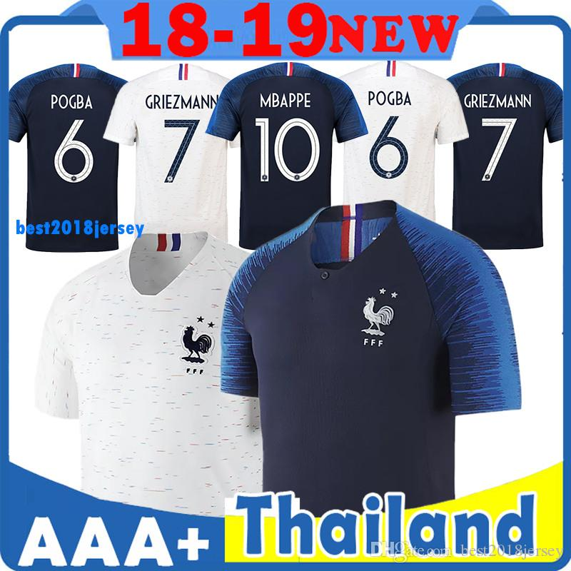 low priced 82f30 9ca9d Two stars World Cup jerseys GRIEZMANN MBAPPE POGBA DEMBELE Jerseys Football  shirts 18 19 National Team home away