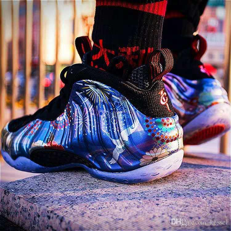 b6f941fcc3ac2 2019 New Penny Hardaway Foam One Abalone CNY Midnight Navy Gum Basketball  Shoes Foams For High Quality Mens Designer Sneakers Size 7 13 Basketball  Shoe Men ...