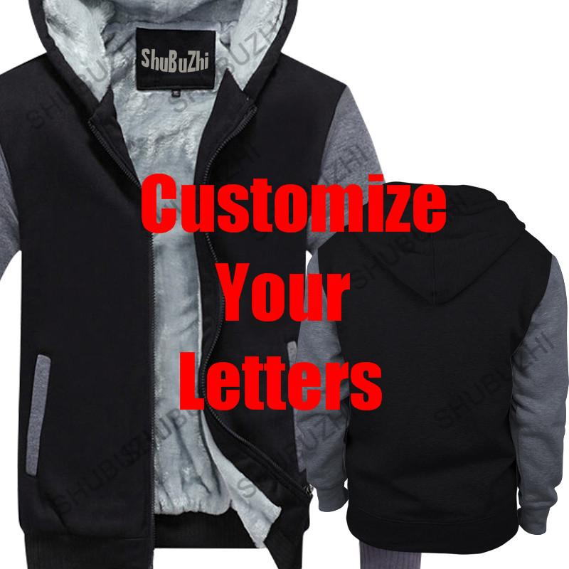 your letters customized men thick hoodies male warm coat winter jacket your designs hoody euro size wholesale drop shipping