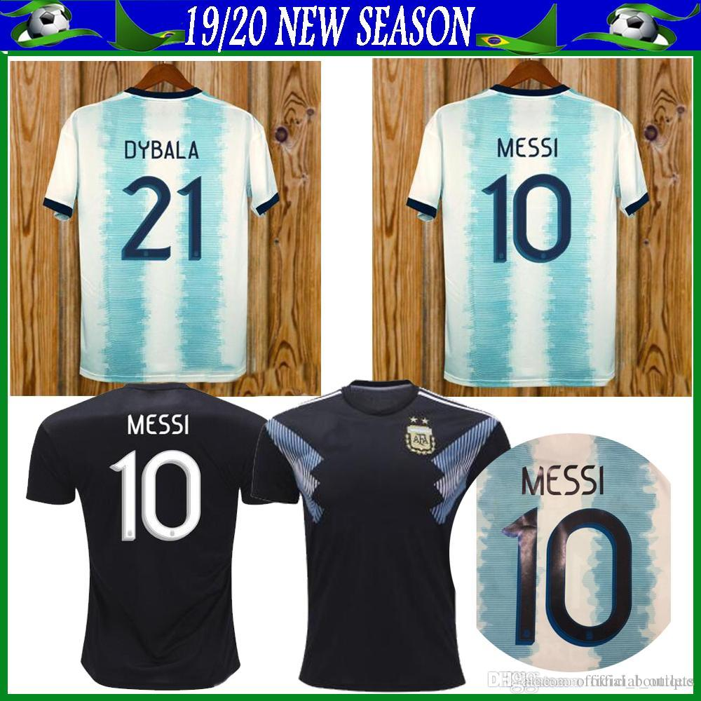 26c75bc1c 2019 Argentina Soccer Jerseys Argentina Home Soccer Shirt  10 MESSI  9  AGUERO  21DYBALA  11 DI MARIA Away Football Uniform Size S XL Australia  2019 From ...