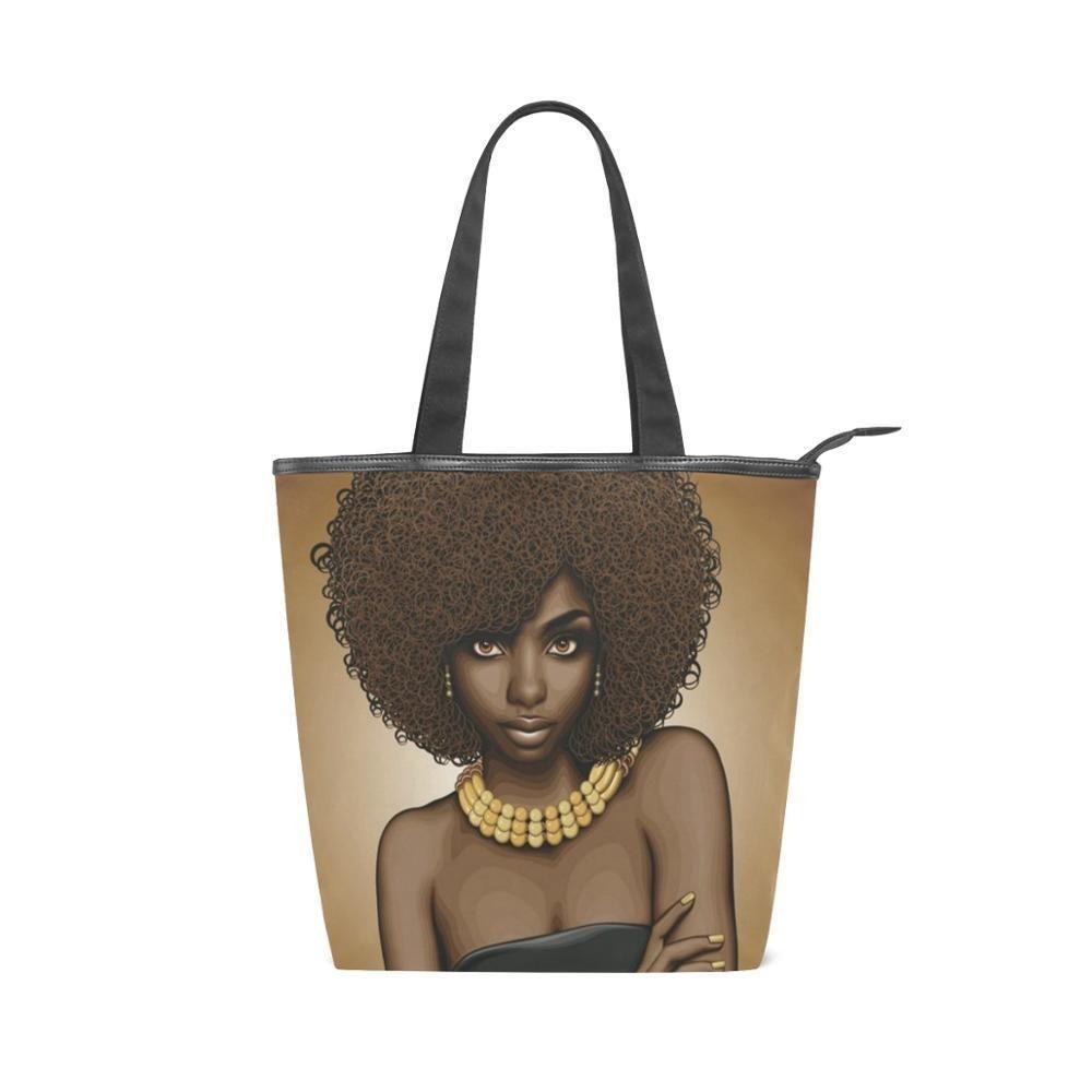 Hawaii Map With Beach Canvas Tote Shoulder Bag HandbagDaily For Women Black