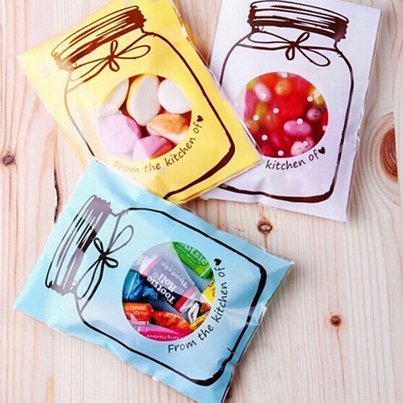 7*10cm fresh candy jar biscuit bag Snack Food Chocolate Egg Tart Bag Householding Storage Bags Wedding Party Supplies