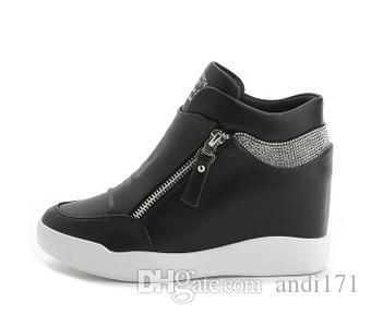 ba38a2d678 Spring style small white shoes inside women's s shoes shoes casual platform high  heels free transport
