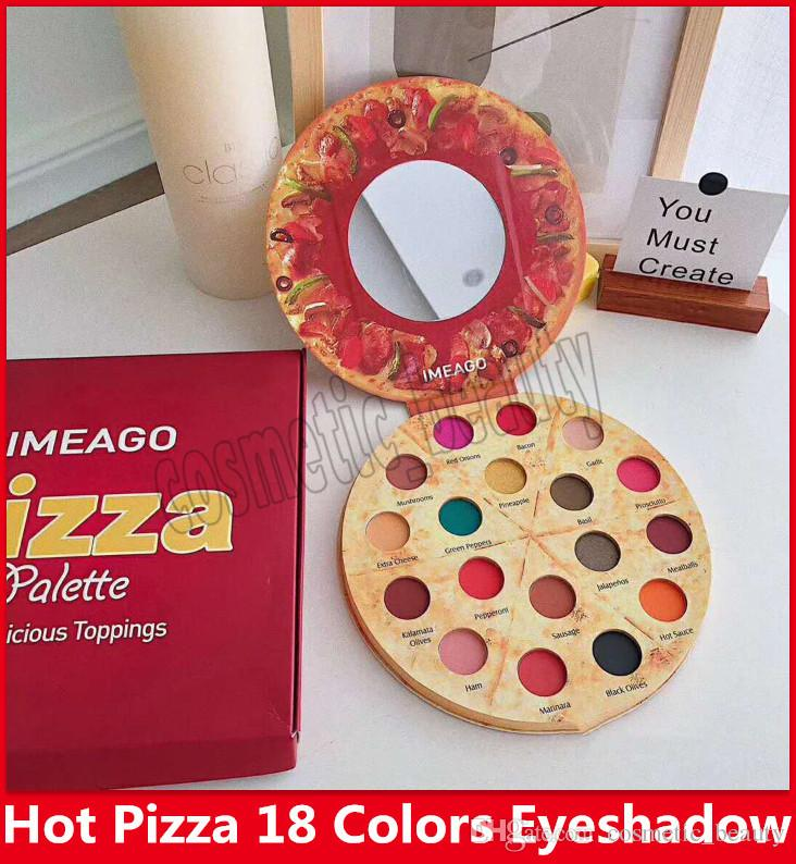 Hot Famous Pizza 18 Color Eyeshadow Make up Kit ,Imeago Palette 18 Delicious Toppings With a gift bags