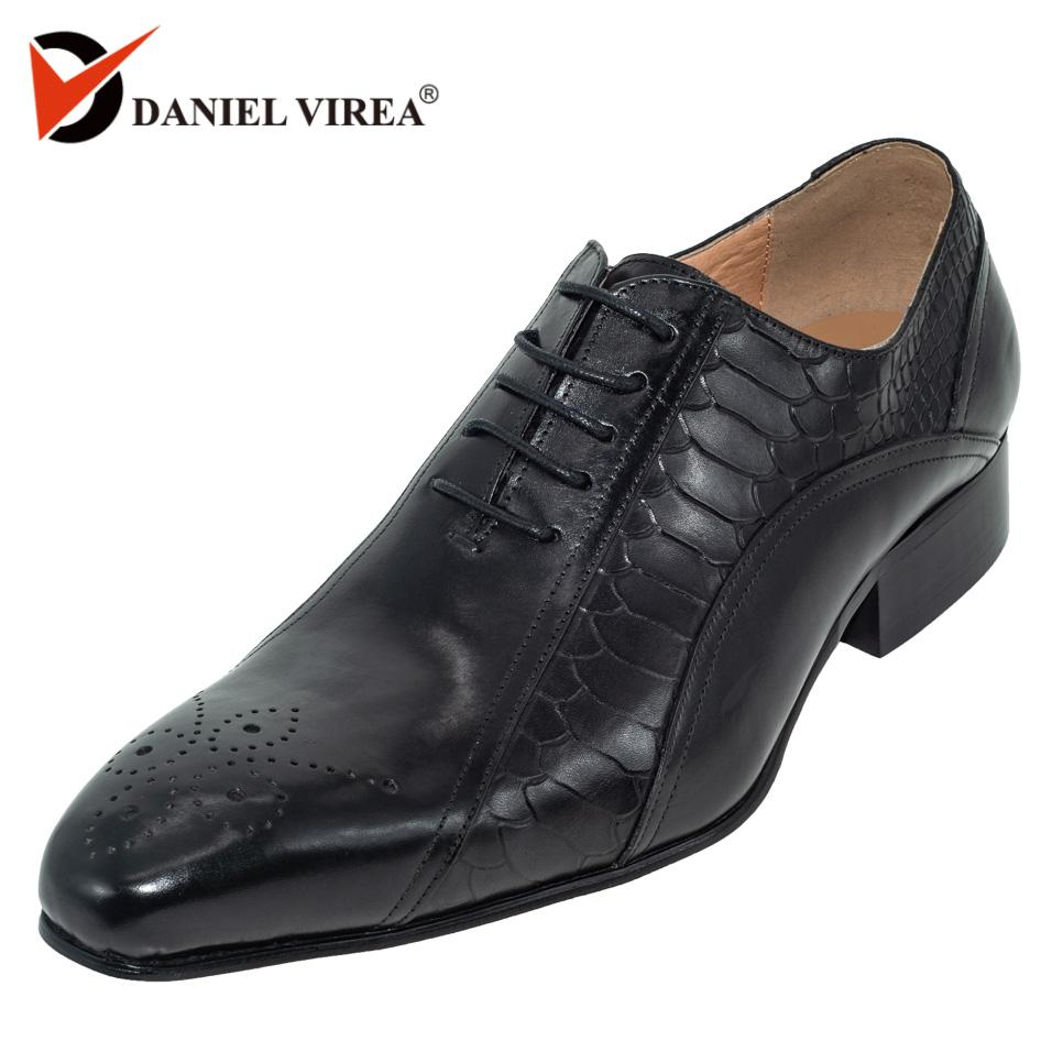e64da65a29138 men dress wedding shoes Classic black coffee color luxury brand office  formal pointed toe solid oxford Genuine leather mens shoe