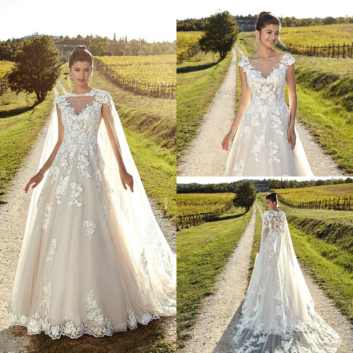 Discount 2019 Plus Size Wedding Dresses Eddy K Sheer Neck