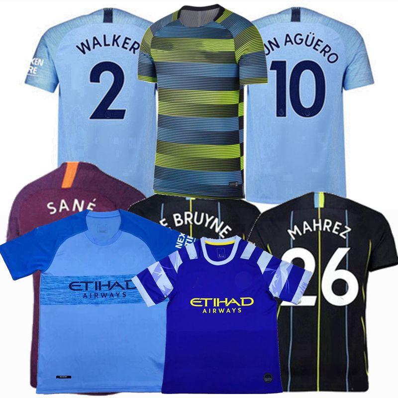 1949d731e 2019 2018 2019 2020 MANCHESTER Soccer Jerseys 18 19 MAHREZ DE BRUYNE KUN  AGUERO STERLING SANE G.JESUS SILVA Home Away 3rd Football Shirts S 2XL From  ...