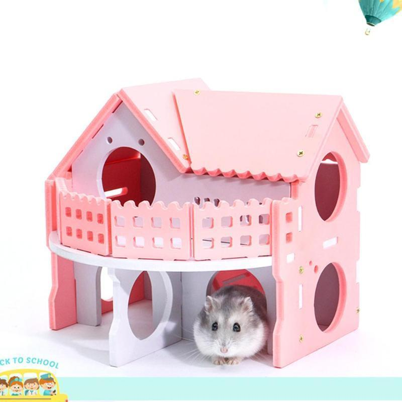 Amazing Ecological Cute Hamster House Cages For Rat Mouse Funny Hamster Nest Net Ecological Double Deck Ladder Villa Colorful Bed House D19011201 Interior Design Ideas Oteneahmetsinanyavuzinfo