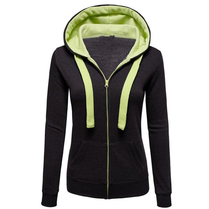 cbdbb9355b2 3XL Grey Pink Hoodie Stitching Unisex Zip Up Hooded Lapel Zipper Hoodies  Sweatshirt Women Or Men Coat Top UK 2019 From Winen