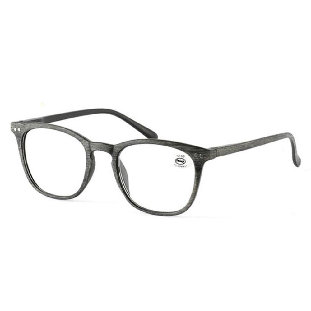 0de68cd7dd Retro Reading Glasses Vintage Eyeglasses Gray Wood Grain Frame Eye ...