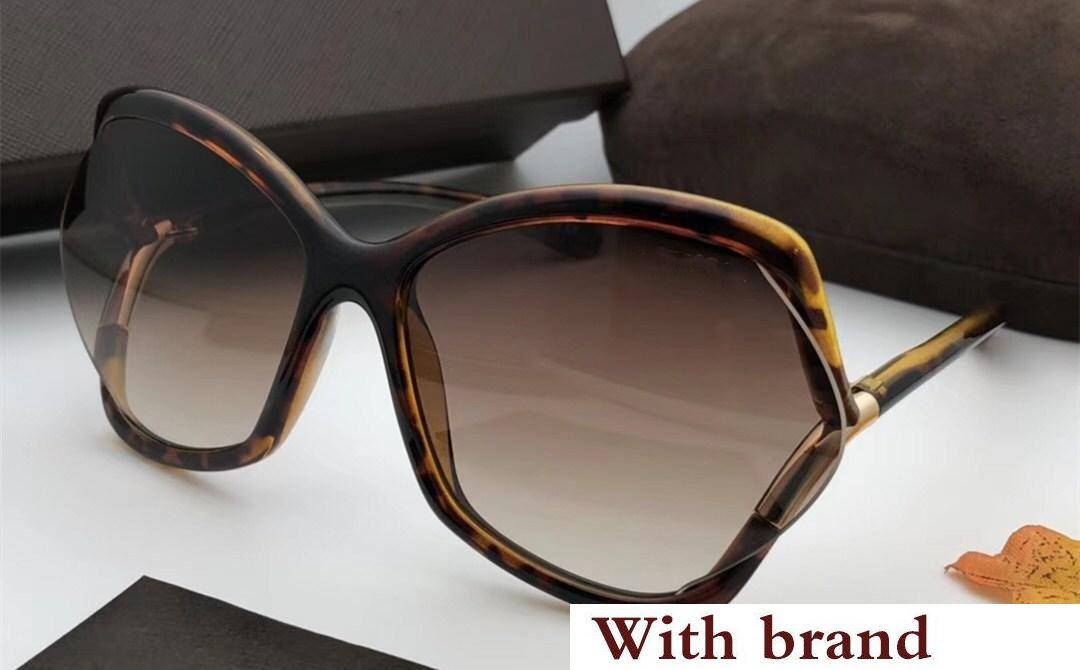 0579 Sunglasses For Women Fashion Designer Popular Retro Style UV Protection Lens Big Frame Top Quality Free Come With Package