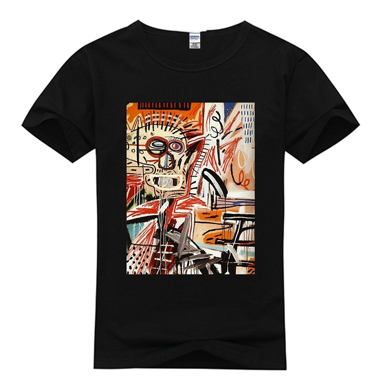 ac67ec5952a4 Women's Tee Fashion Short Sleeve Custom Jean Michel Basquiat Women's  Classic 100% Cotton T-shirt