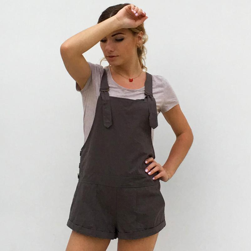 1f0c690d58e 2019 Cotton Rompers Women Button Fashion New Playsuits Style 2019 Cute  Casual Female Solid New Shorts Overalls Jumpsuit With Summer From  Necksweater