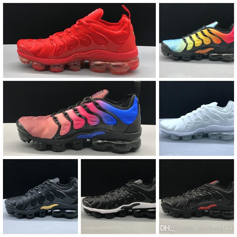 2019 Bumblebee TN Plus Men Running Shoes Triple Black White Sunset Photo Blue Bumblebee Be True Shoes Designer Shoes Sport Sneakers Trainers