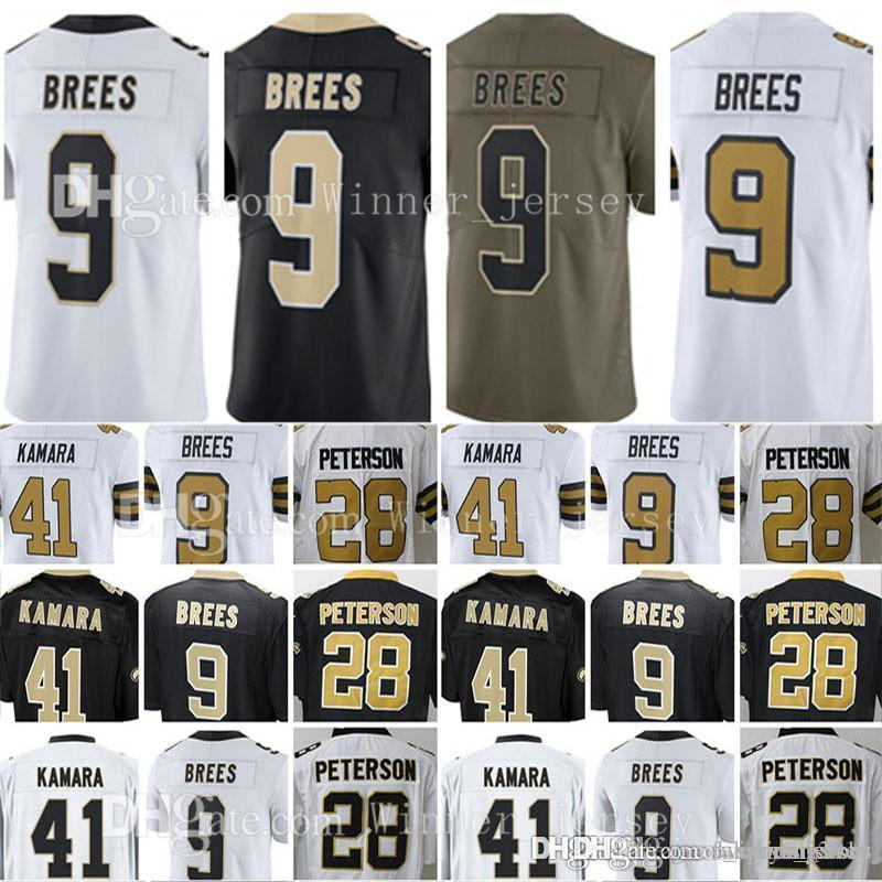 2019 Mens  9 Drew Brees  28 Adrian Peterson Jersey Drew Brees 2017 Salute  To Service Limited Jerseys From Fanatical store d61e2cb88