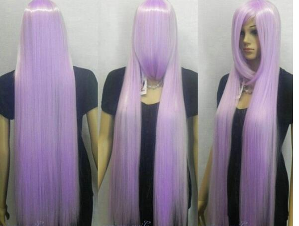 39inch Extra Long Straight Slanting B Angs Light Purple Cosplay Wig Ombre  Synthetic Wigs Lace Wigs With Baby Hair From Dingyingying7789 7b892bed5