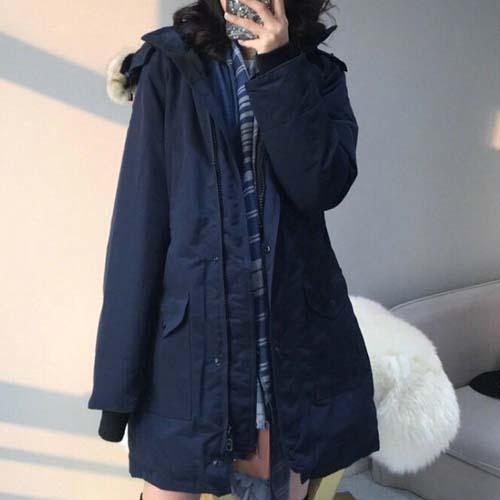 Fashion Trilllum Winter Down Parka Brand Designer Hooded Parkas Women Clothes Warm for Ladies Outdoor Coats Plus Size