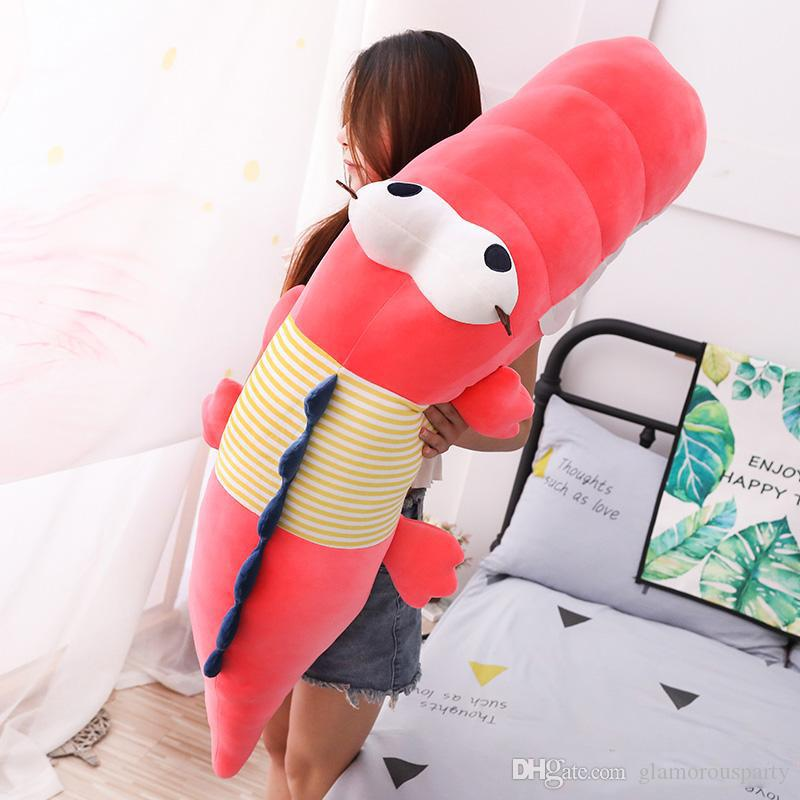 new crocodile plush doll giant stuffed alligator toy cute accompany sleep long pillow for children adults gift deco 49inch 125cm