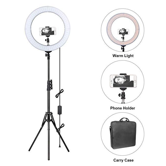 14 inches Ring Light with Stand for Makeup Lighting, YouTube,Dimmable Video LED Light Kit Selfie Self-Portrait Video, Wedding Photography