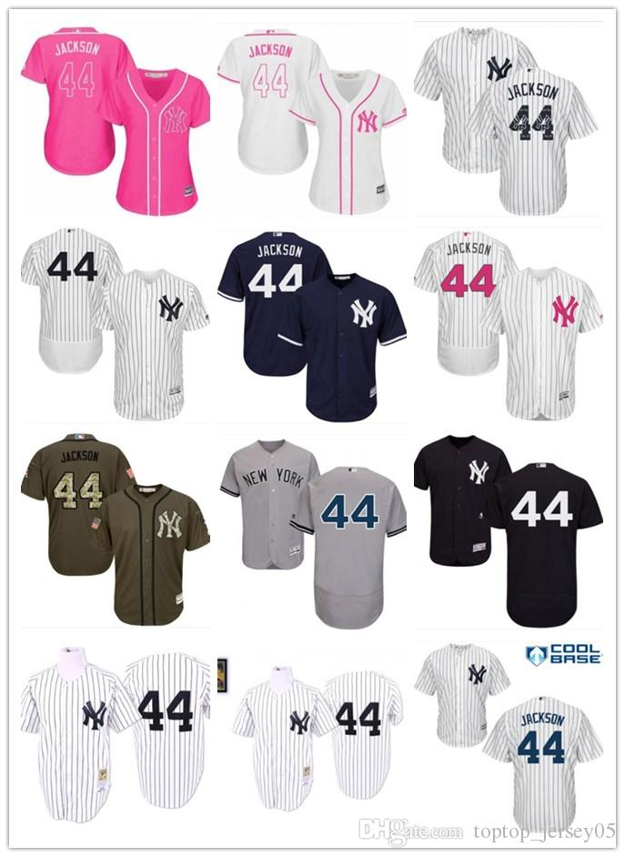 newest 55b68 c0b0f 2018 top New York Yankees Jerseys #44 Reggie Jackson Jerseys  men#WOMEN#YOUTH#Men's Baseball Jersey Majestic Stitched Professional  sportswear