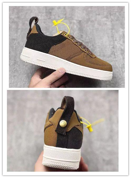 a4faacfe8def1 Acquista 2019 Vendita Calda Carhartt WIP Brand 1 Low Men Donna Low Cut One  1 Scarpe Dark Brown Dunk Sports Skateboarding Shoes A  51.27 Dal Mansneaker  ...