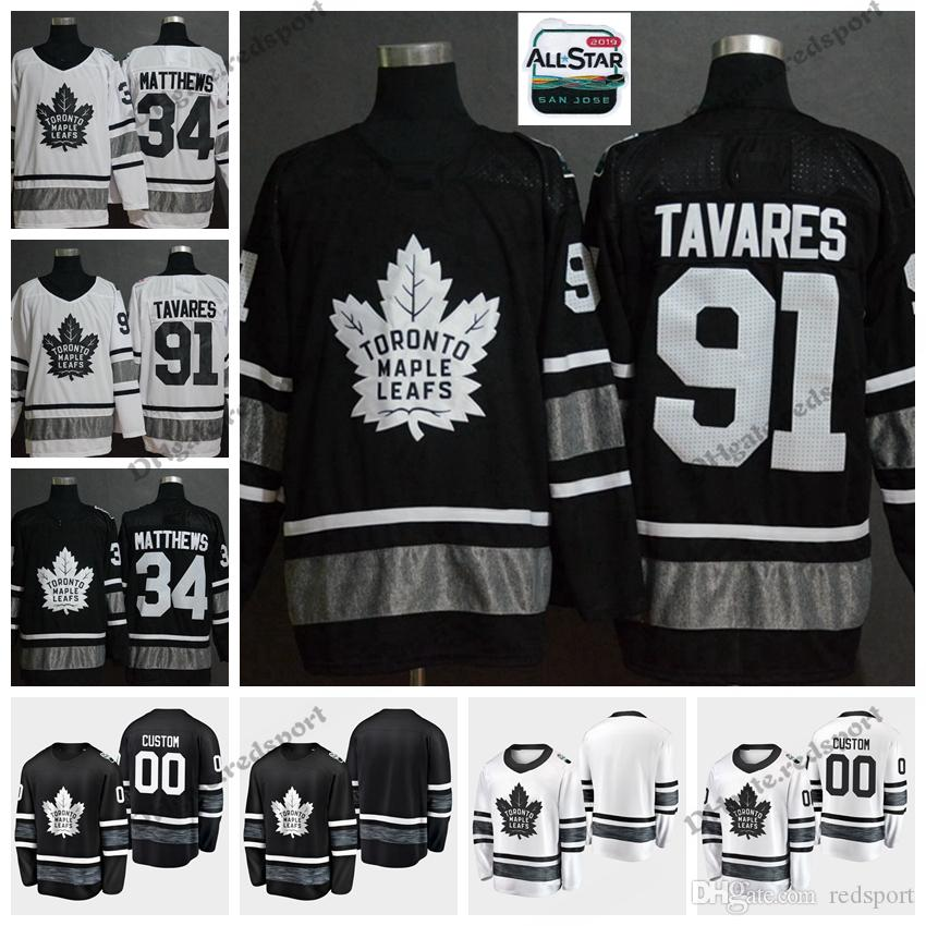 2019 All Star Toronto Maple Leafs Hockey Jerseys Black White ... 83d725310