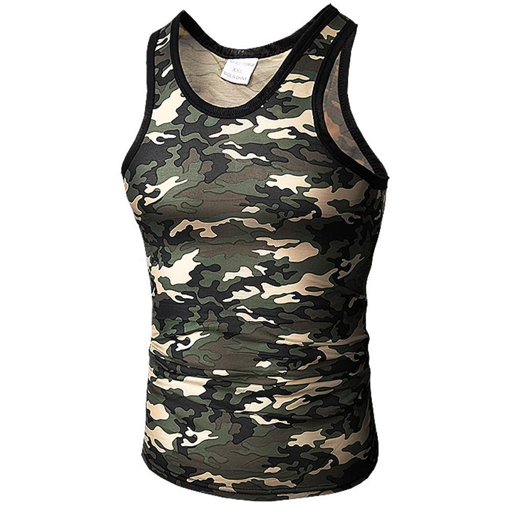 best wholesaler the cheapest hot sales Débardeur Hommes 2019 Marque Homme Armée Vert Camouflage Sans Manches Gilet  Vêtements Bodybuilding Haut Réservoir Hommes Jersey