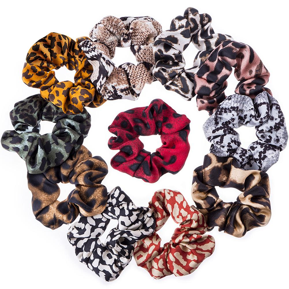 Apparel Accessories New Fashion Scrunchies Leopard Printing Chiffon Scrunchies Headwear Stretch Ponytail Holders Hair Ties Snake Printing