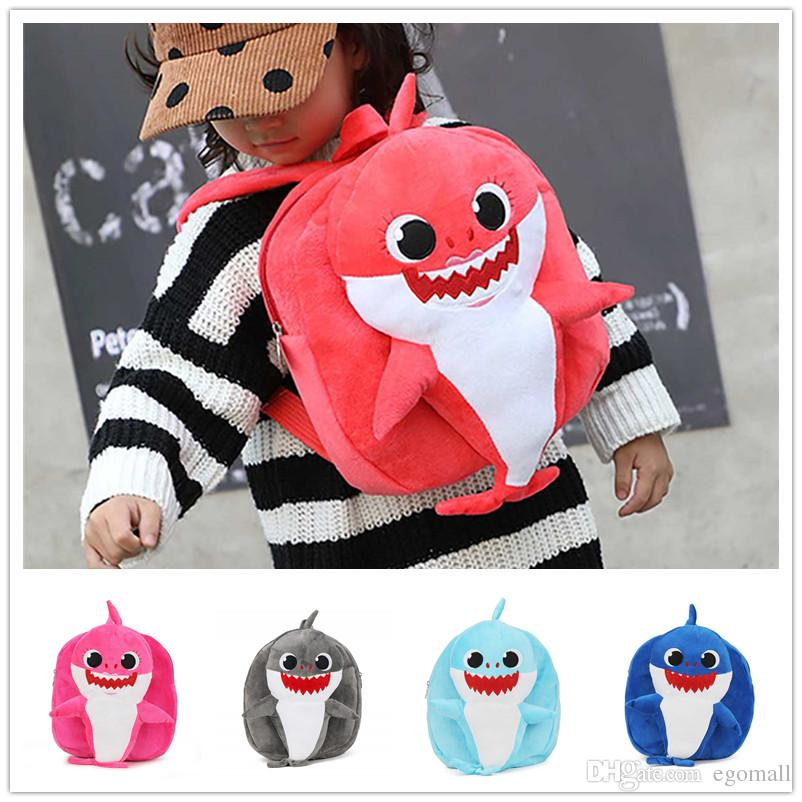 Cartoon 3D Shark Baby Plush Backpack School Bag Girl Kids Children  ScCartoon 3D Pihool Bags Baby Shark Backpacks Baby Infantil Mochilas  Motorcycle Seat Bags ... 2e9566184f018