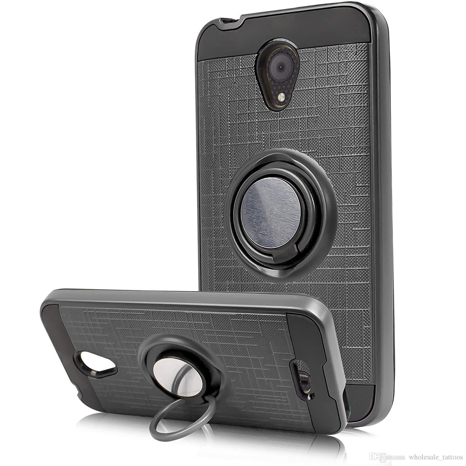 Hybrid TPU+PC ShockProof Armor Case 360 Ring Stand Holder Magnetic Back Cover For Alcatel Raven LTE A574BL CameoX Verso idealXCITE 5044R U50