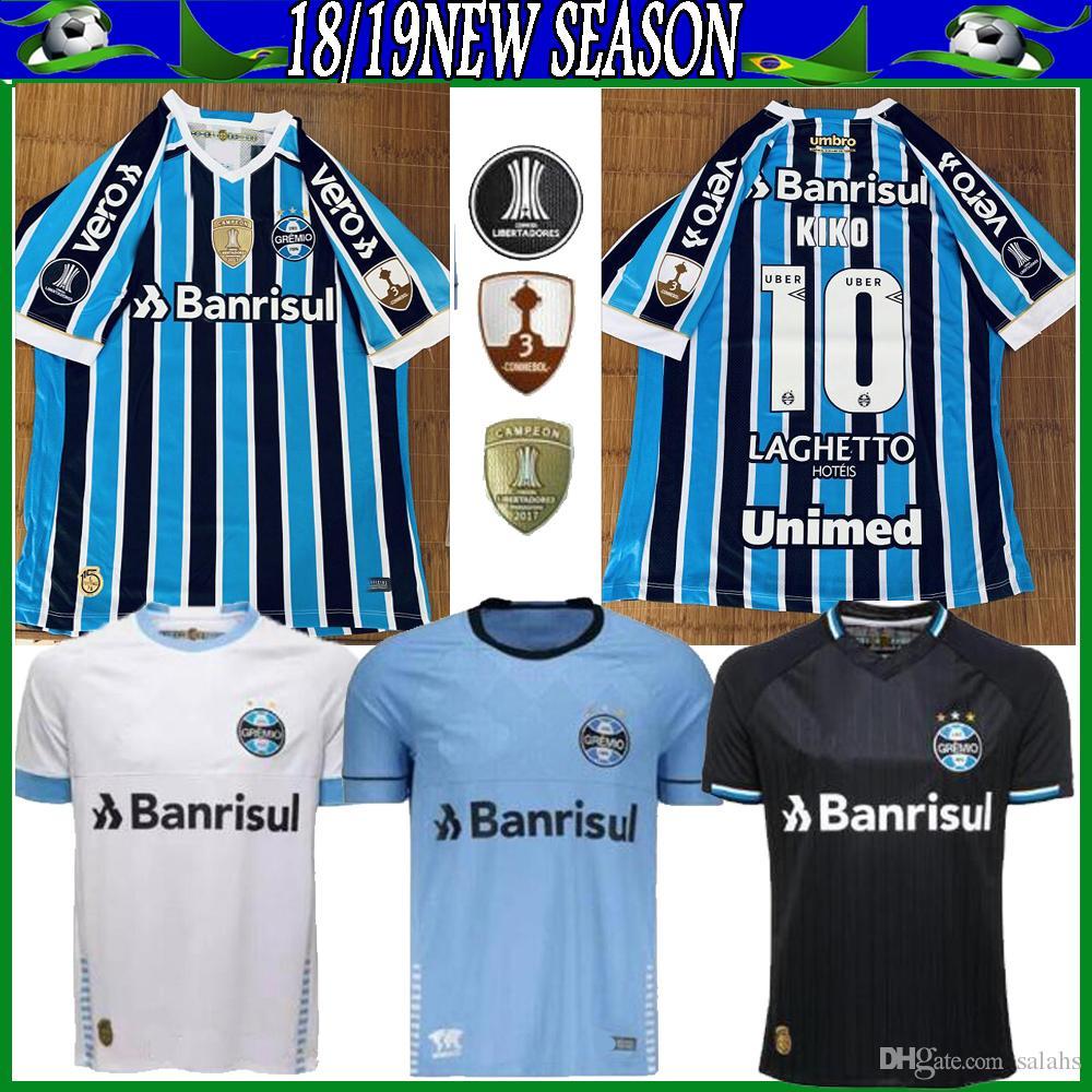 2019 2018 2019 Gremio Paulista Soccer Jerseys 18 19 Gilchmei Best Gremio  Johnath MILLER LUAN Marlone Azevedo Da Silva Football Shirt From Salahs c1816bb63