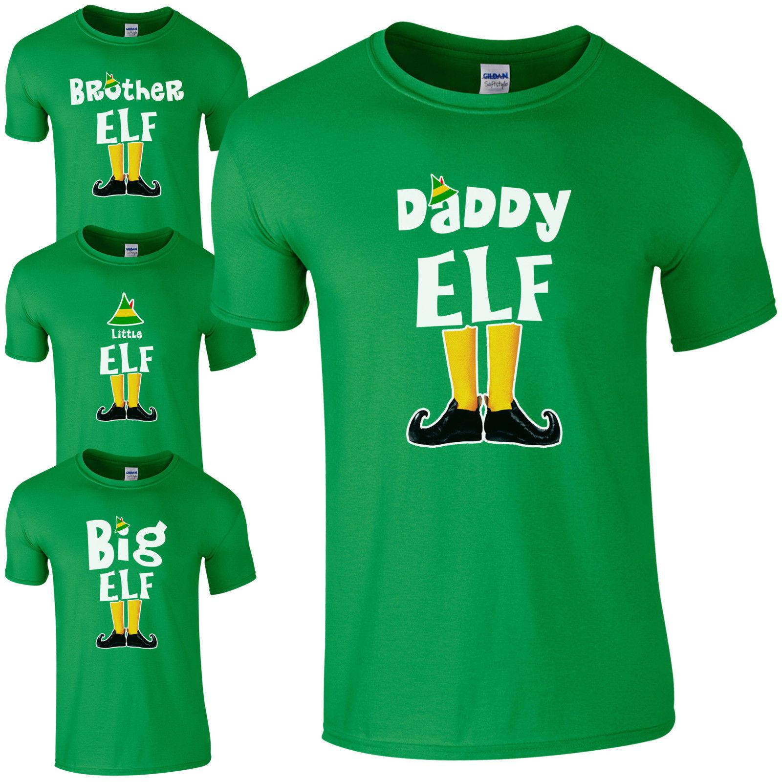 4367bfdde Elf Family T-Shirt - Funny Cute Christmas Pyjama PJ's Idea Gift Kids Mens  Top Funny free shipping Unisex Casual Tshirt