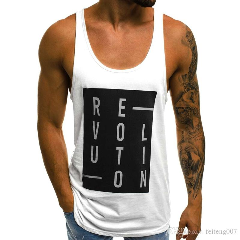 2f27ab041e5a3 2019 MarKyi Bodybuilding Tank Top Men Fitness Singlet Sleeveless Shirt  Casual Gilet Men O Neck Tank Tops Summer  765116 From Feiteng007