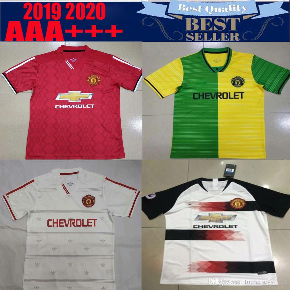 1e67fcff3 2019  6 POGBA Away Soccer Jersey 18 19  9 LUKAKU Shirt 2019  7 ALEXIS  10  RASHFORD  14 LINGARD Club Team Football Uniforms Size From Topjerseys1718
