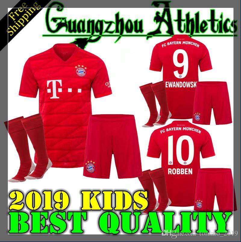 innovative design 7021f 0e231 Top Thail Bayern Munich Kids JAMES RODRIGUEZ Soccer jersey 2019 2020  LEWANDOWSKI MULLER KIMMICH jersey 19 20 HUMMELS Football shirt