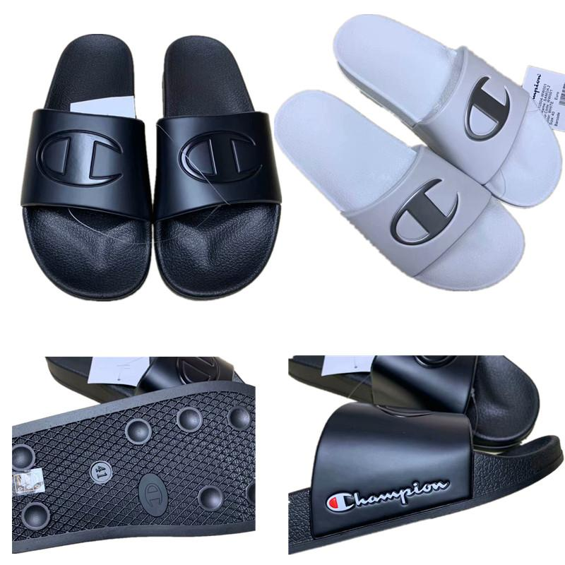 reputable site ff92c 288b0 Champion Brand Designer Sandali Luxury Summer Unisex Pantofole sportive  Ciabatte Infradito Sandali Piatti Sandali da spiaggia Sandali da spiaggia  ...