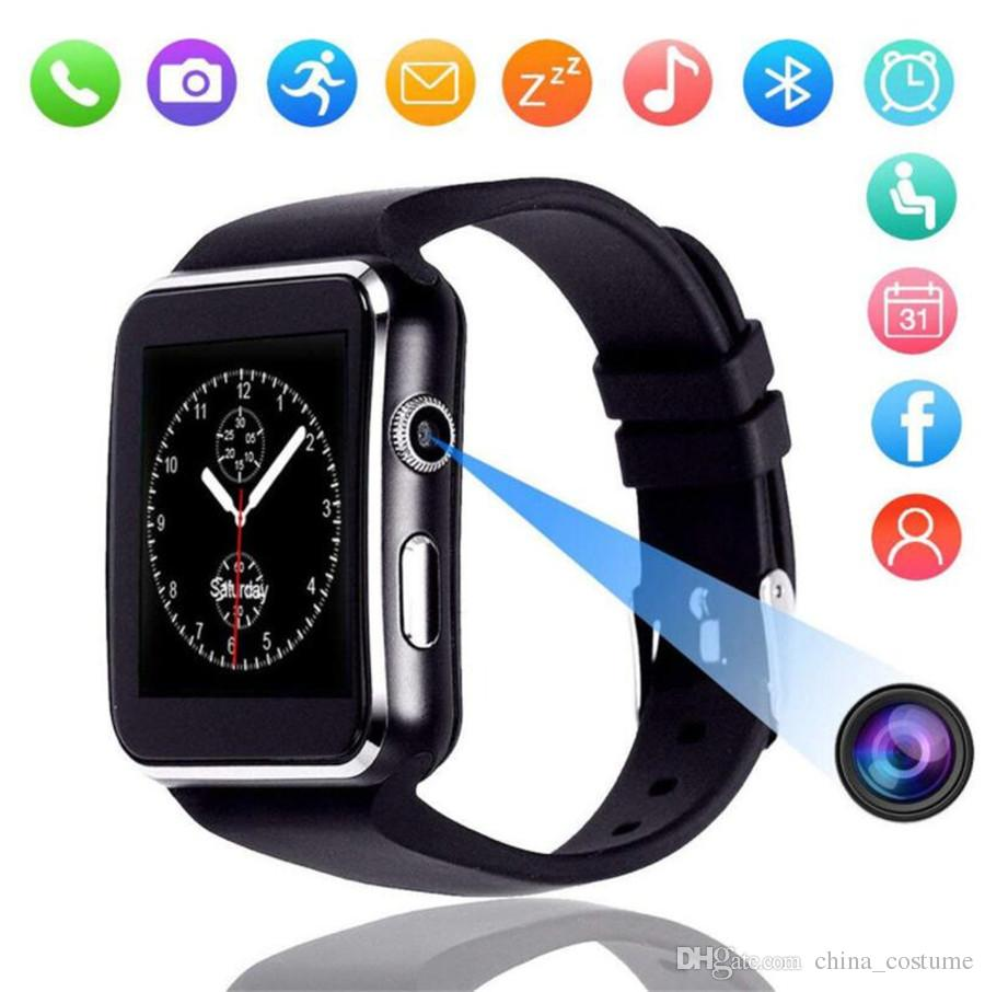 X6 smart watch 1.54 inch narrow side screen 2.5D arc step counter sleep monitoring card Bluetooth sports watch FOR: IPHONE Samsung