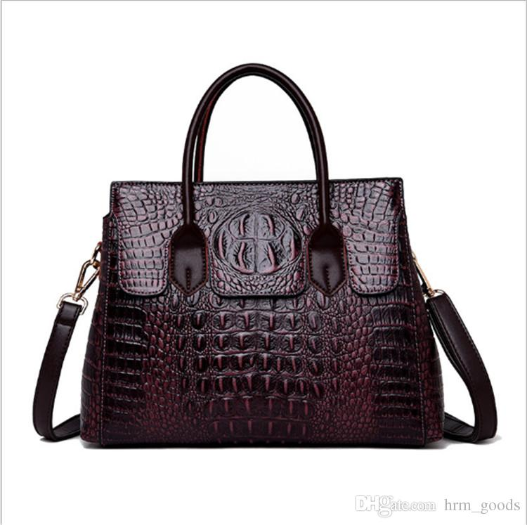 99232d47012 2019 Fashion Crocodile Pattern Shoulder Bags for Women Designer Handbags PU  Leather Lady Totes Handbags high quality Crossbody bag