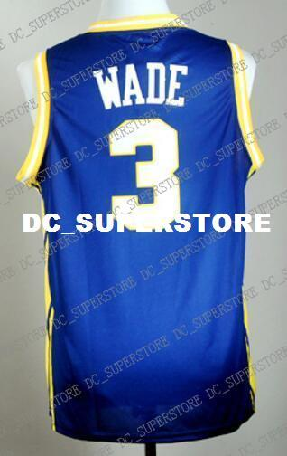 hot sales a0948 50145 Cheap custom Dwyane Wade MARQUETTE #3 Jersey Stitched Customize any number  name MEN WOMEN YOUTH XS-5XL