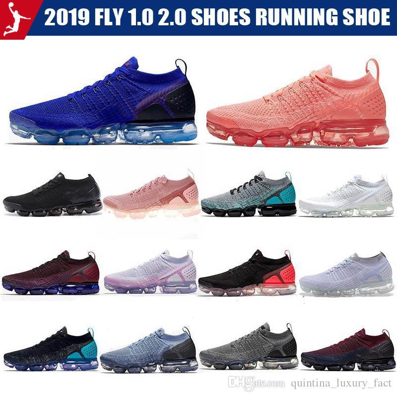 2019 Fly 1.0 2.0 Zapatos para correr Mango Crimson Pulse Be True Hombre para mujer Diseñador de calzado deportivo informal Tamaño 36 45