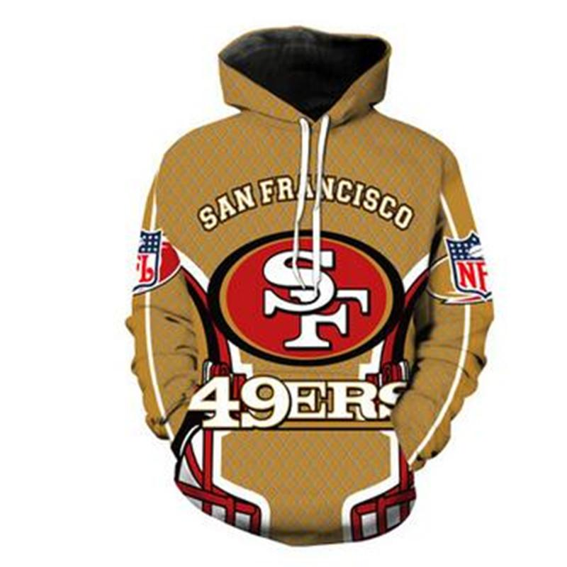 the latest 6edbf 723e4 2018 Fashion San Francisco 49ers Hoodies 3D Unisex Sweatshirt Print Hoodie  Casual Long Sleeve Tracksuit Pullover Streetwear