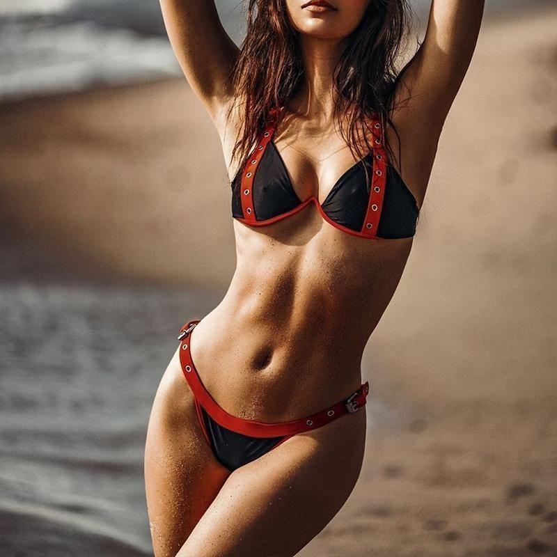 e8da944b59 2019 Triangle Bikinis 2019 Mujer Bathers Sexy Swimsuit Female Separate  Swimwear Women Black Bathing Suit Beach Wear Two Piece From Lin_07, $34.4 |  DHgate.